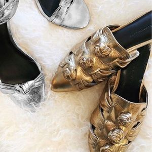 Rebecca Minkoff leather knot mules